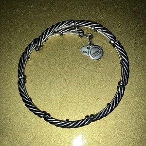 Silver Alex & Ani + (Energy) Wrap Bracelet